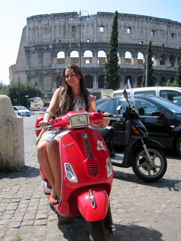 Roma with my vespa !