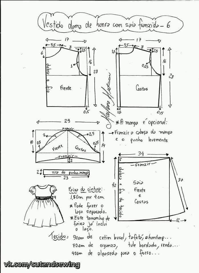Vestido de festa com sobreposição moulet – DIY marlene