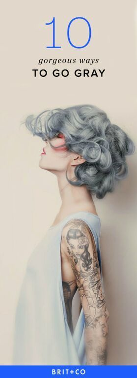 If you're thinking about dyeing your hair gray, draw inspo from these hairstyles.