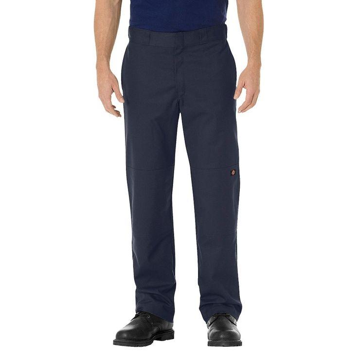 Dickies Men's Big & Tall Regular Straight Fit Flex Twill Double Knee Work Pant- Dark Navy 44x32