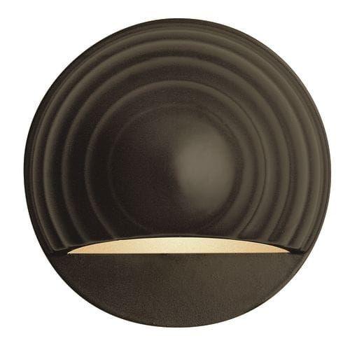 Hinkley Lighting H1549 12v 7w Round Die-Cast Aluminum Deck / Rail Light (Architectural Bronze)