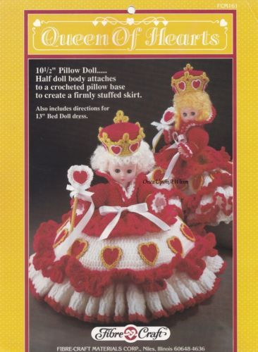 Queen Of Hearts Fibre Craft Crochet Doll Clothing Pattern Booklet