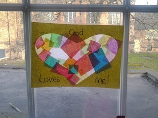 Flame: Creative Children's Ministry: God loves me stained glass windows