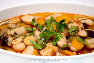 Óriás fehérbab leves ~ Receptműves