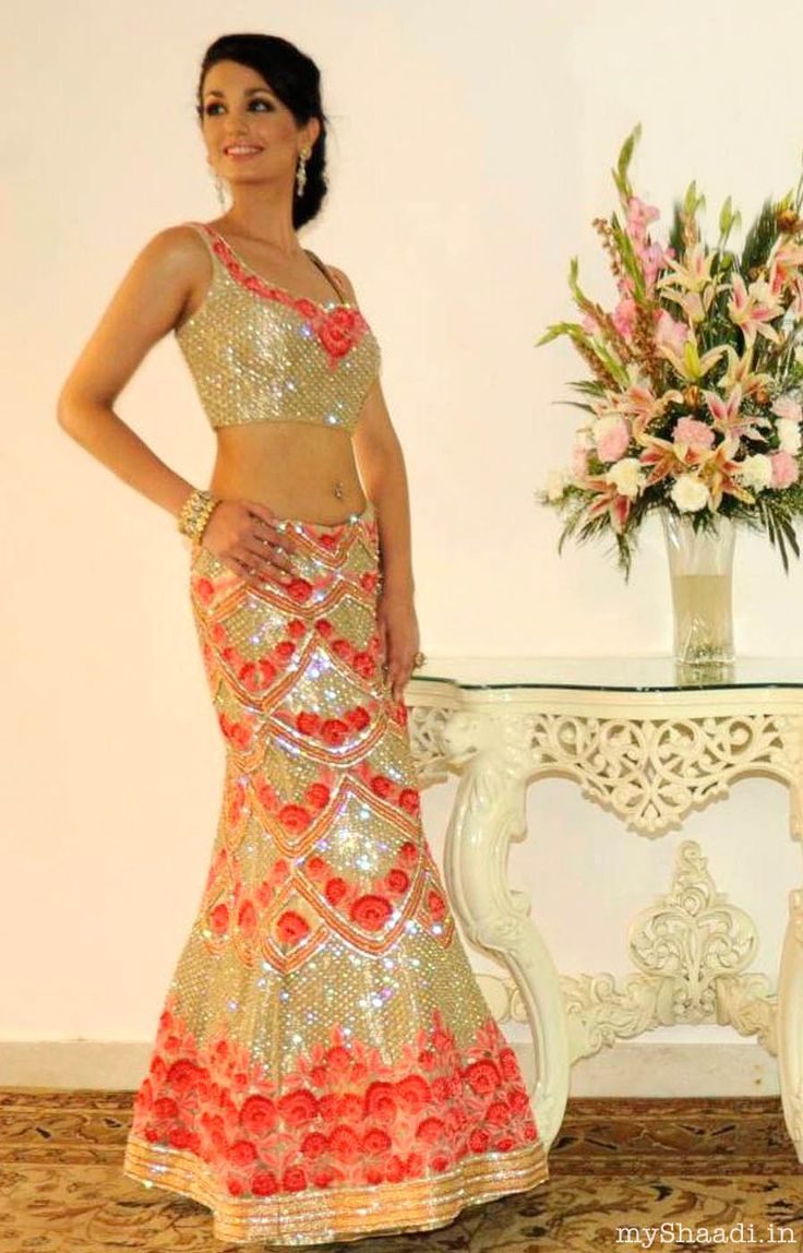 Indian Bridal lehenga choli visit http://panachehautecouture.co.in for beautiful collection of wedding collection