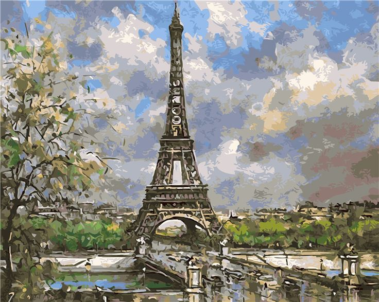 Rainbow Canvas Eifffel Tower Paint Night Ideas