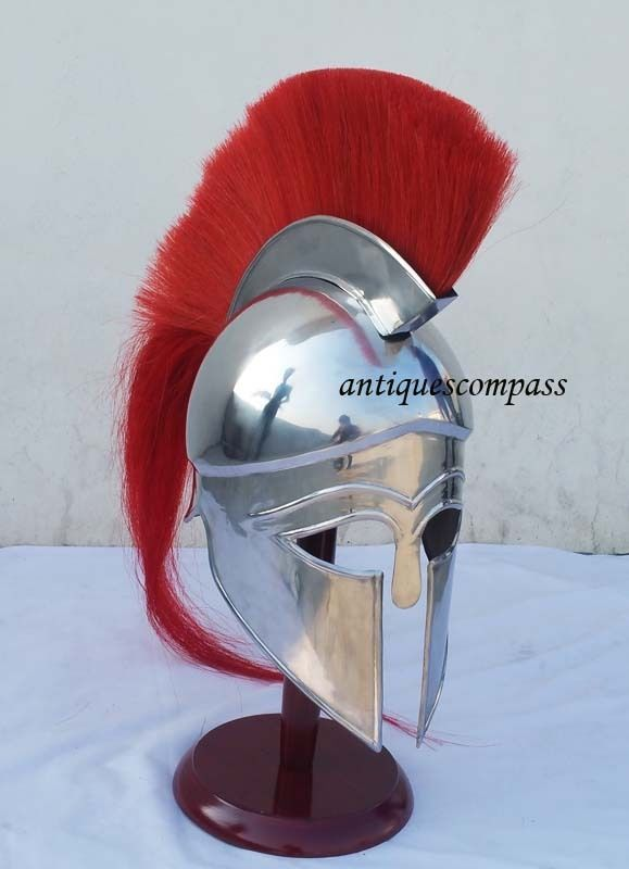GREEK CORINTHIAN HELMET Medieval Roman Helmet Ancient Armor Helmet #Unbranded