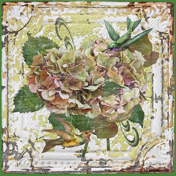 I uploaded new artwork to fineartamerica.com! - 'Hydrangeas With Humming Birds-b' - http://fineartamerica.com/featured/hydrangeas-with-humming-birds-b-jean-plout.html via @fineartamerica