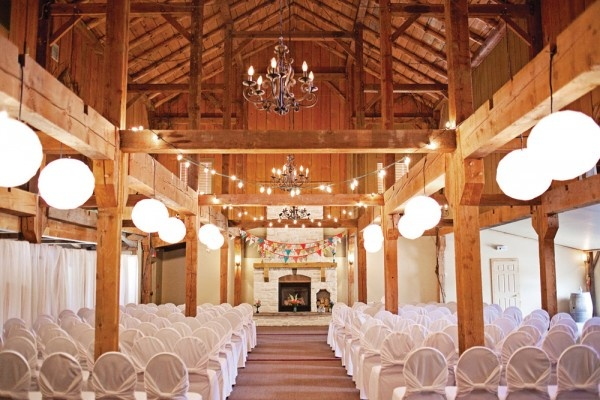 Ceremony - Kitschy Antique Wedding  Ceremony and reception location: Bellamere Winery, London, Ontario