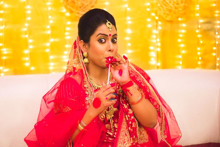 cool bride, bride wearing, Indian Wedding, Candid, Beautiful bride | Beautiful | ipicframes | Wedding | Bride | love | Fashion | IndianWedding | Beautiful | Style
