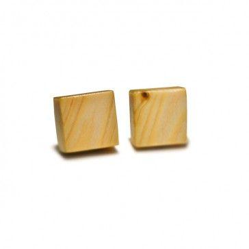 spinki do mankietów z sęków drewnianych