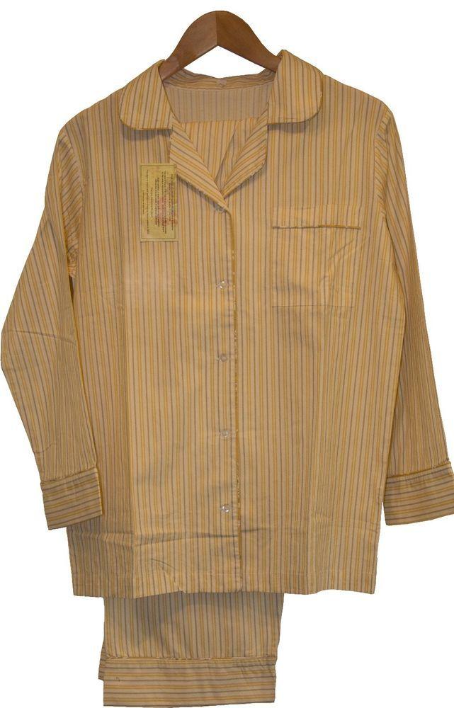 Cadet Yellow: 100% Cotton Women's Pajamas