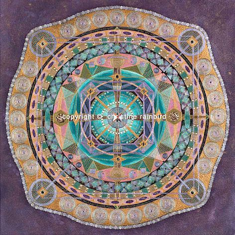 Follow your dreams: The Sacred Geometry and energies channelled in this Mandala will activate cellular memories of your soul purpose and destiny. Working with these  energies on a regular basis will support the inspiration to follow this calling. The gifts and attributes that are required to fulfill these dreams will be re-activated due to a finer sense of awareness, new clarity and insights.