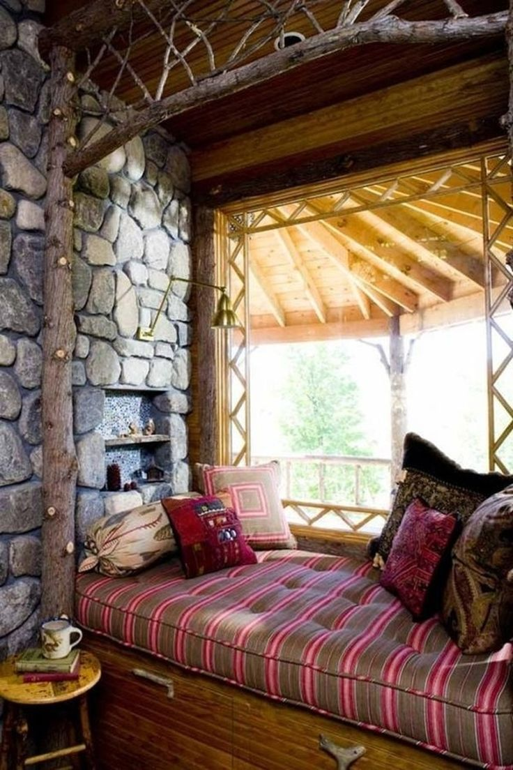11. #Cabin - Love Books? Here's a #Reading Nook (or 27) for You ... → #Books #Little
