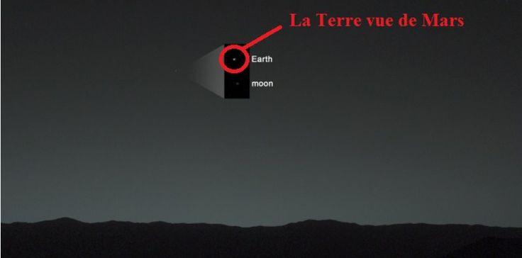 Voilà à quoi ressemble la Terre vue de Mars