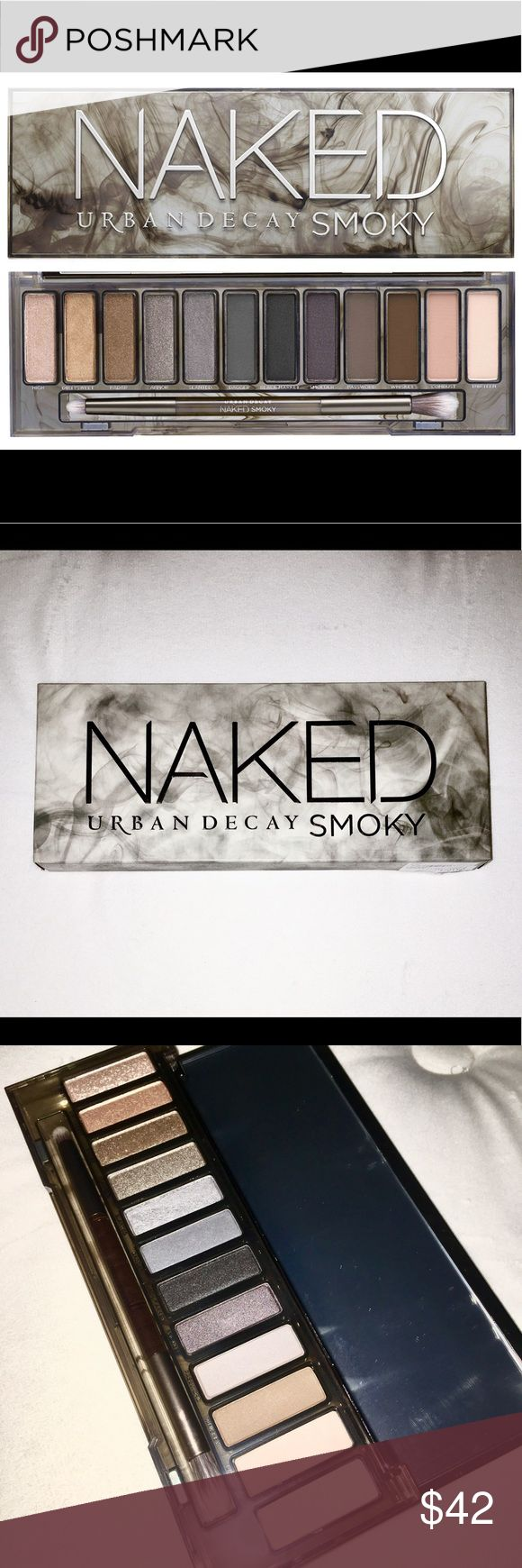 Urban Decay Naked Smoky Palette NWT! Brand new, opened once (to show shadows inside). Pictures taken with an iPhone 6s and flash, I tried to get the colors as close to real as possible.  This is the fourth beautiful palette in UD's Naked collection, featuring a variety of cool-toned shades perfect for creating any smoky look you can dream of.   100% cruelty free. Fill Weight: Eyeshadows: 12 x 1.3 g POIDS NET/NET WT. 12 x 0.05 oz Urban Decay Makeup Eyeshadow