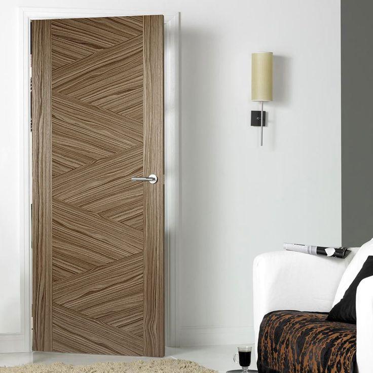 Zeus Walnut Solid Internal Door - Prefinished. #internaldoor #moderndoor #contemporarydoor