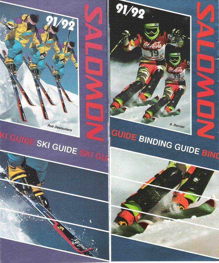 Salomom ski and binding brochures 91/92 Petersen Collection