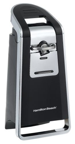 Hamilton Beach 76606Z Smooth Touch Can Opener Black and Chrome