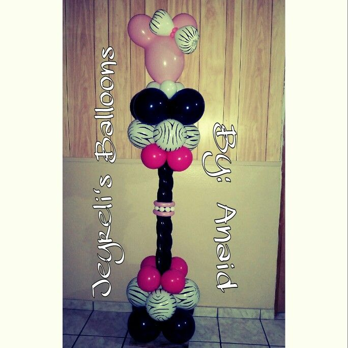 570 best images about minnie mickey balloons on for Balloon decoration minnie mouse