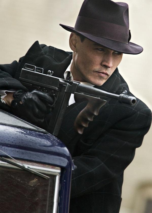 Johnny Depp as John Dillinger.