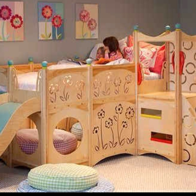little girl bedroom I love this idea! Would be easier than just a loft for a younger girl.
