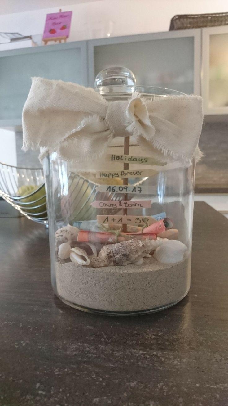 Hochzeitsgeschenk Geld für die Flitterwochen #flitterwochen #handicraft #hochz