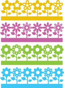Silhouette Online Store - View Design #58516: flowers borders set