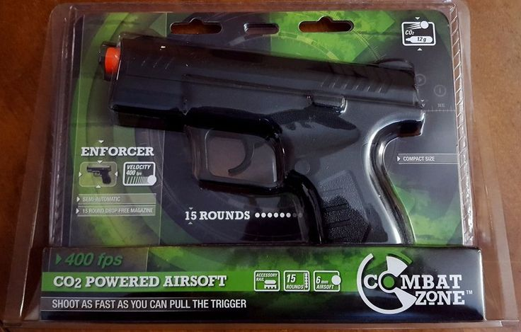 Umarex Combat Zone Enforcer Compact Airsoft Pistol CO2 15 Round Mag 400 FPS #Umarex