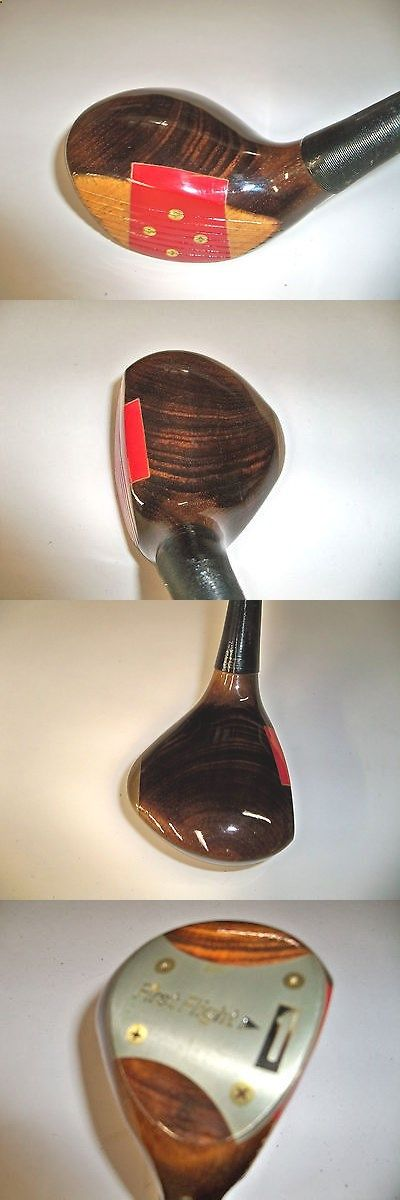 Golf Driver - Vintage Golf Clubs and Shafts 83043: First Flight Refinished Persimmon Driver Vintage Rh Mens Golf Club -> BUY IT NOW ONLY: $59 on eBay!