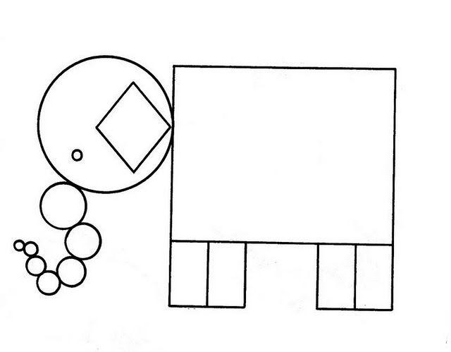 Dibujos de animales de figuras geometricas - Imagui