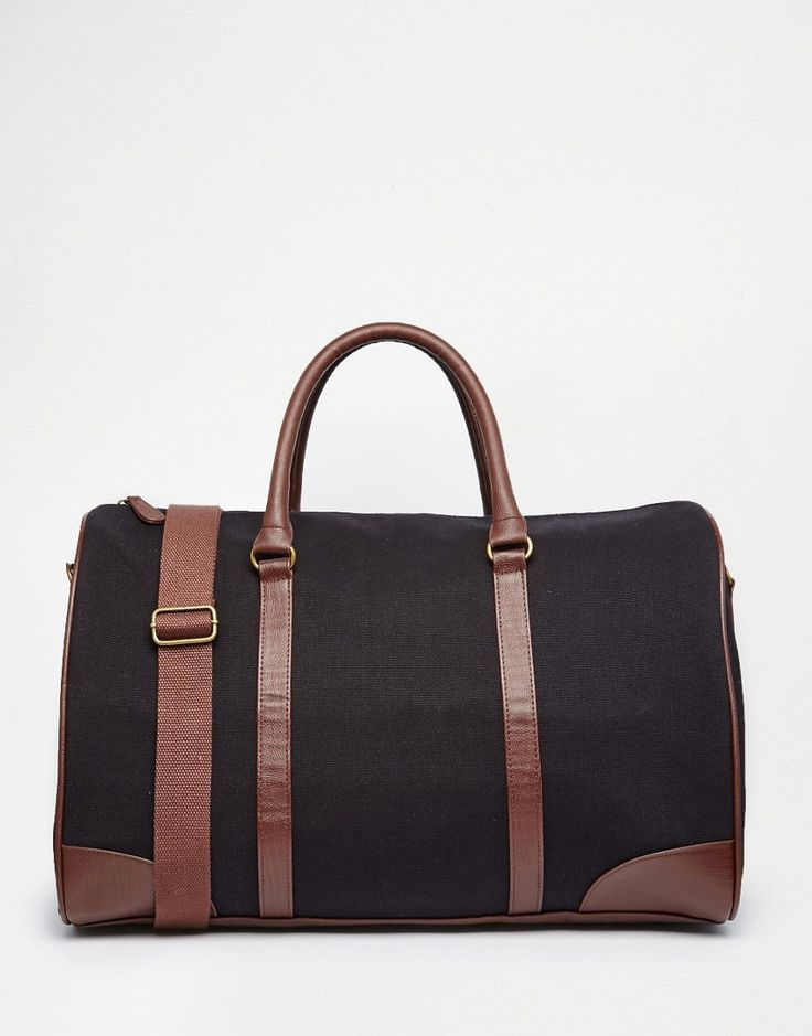 Image 1 ofASOS Holdall In Navy Canvas