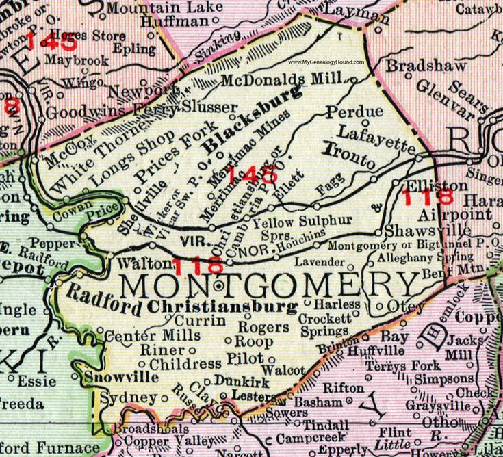 Best Historic Virginia County Maps Images On Pinterest - Virginia county map
