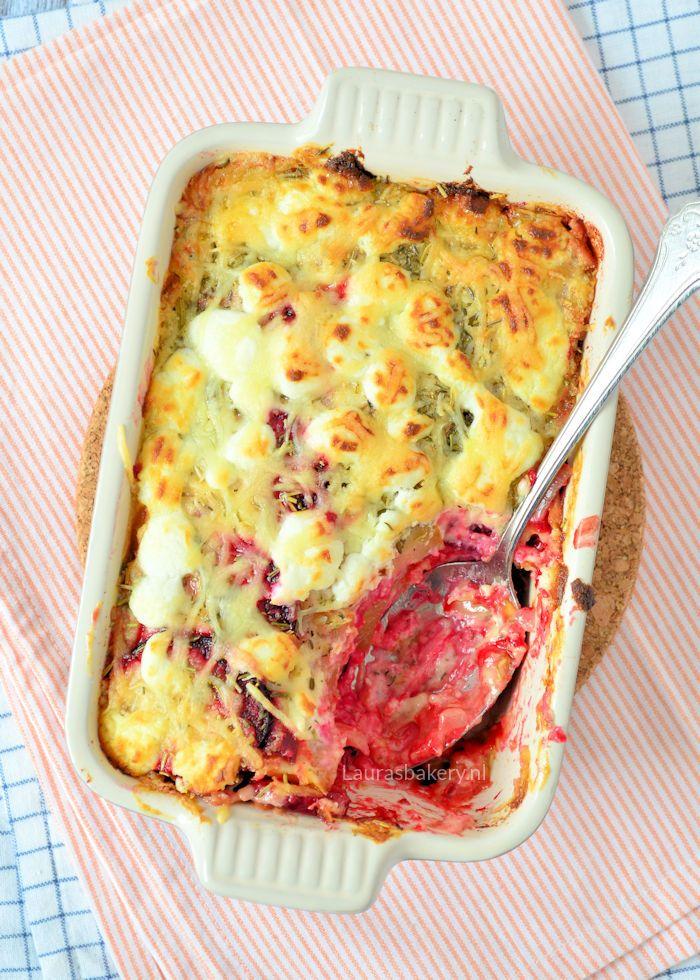 bietjes lasagne met geitenkaas
