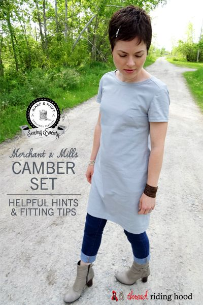 Thread Riding Hood - Camber Set Hints & Fitting Tips merchant and mills pattern, woven fabric dress, fitted A-line, pull over, excellent pattern drafting for ease and fit