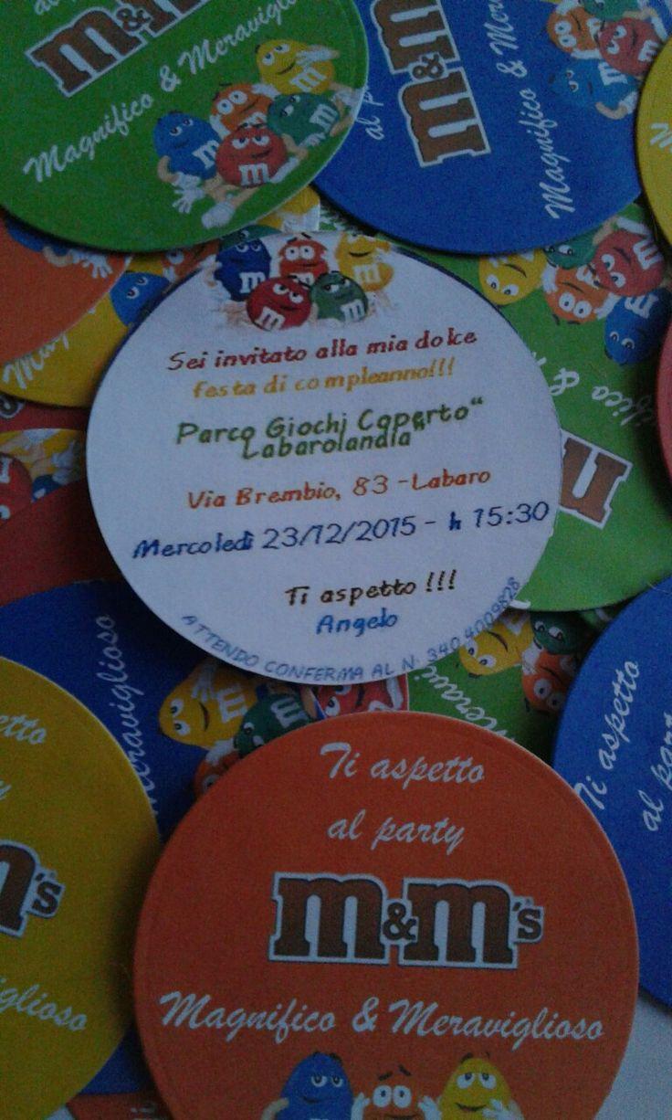 Inviti m&m's feste bambini