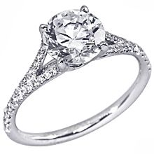 Stardust Active Split-Shank Engagement Ring: split shank diamond engagement ring