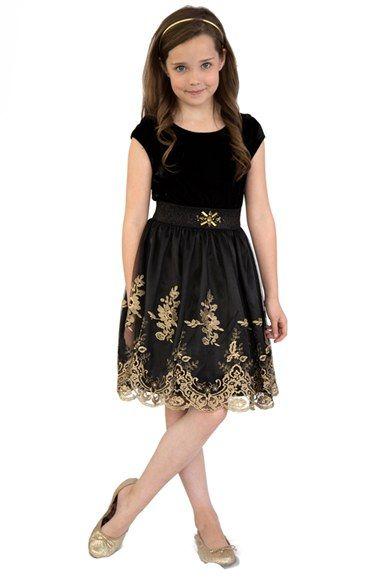 BLUSH by Us Angels Velvet Dress (Big Girls) available at #Nordstrom