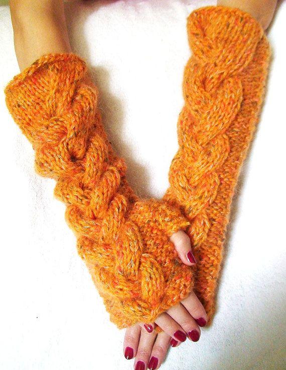 Fingerless Gloves Long Elbow Length