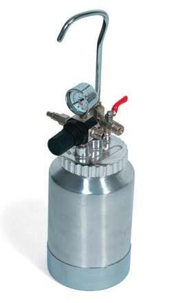 Serbatoio Sottopressione AT2 - G.B.V.   Airless / Pressure vessel stainless steel adjustable pressure product / Capacity: 5 lt. / Min. Max: 4.1 bar Weight: 5.3 kg.