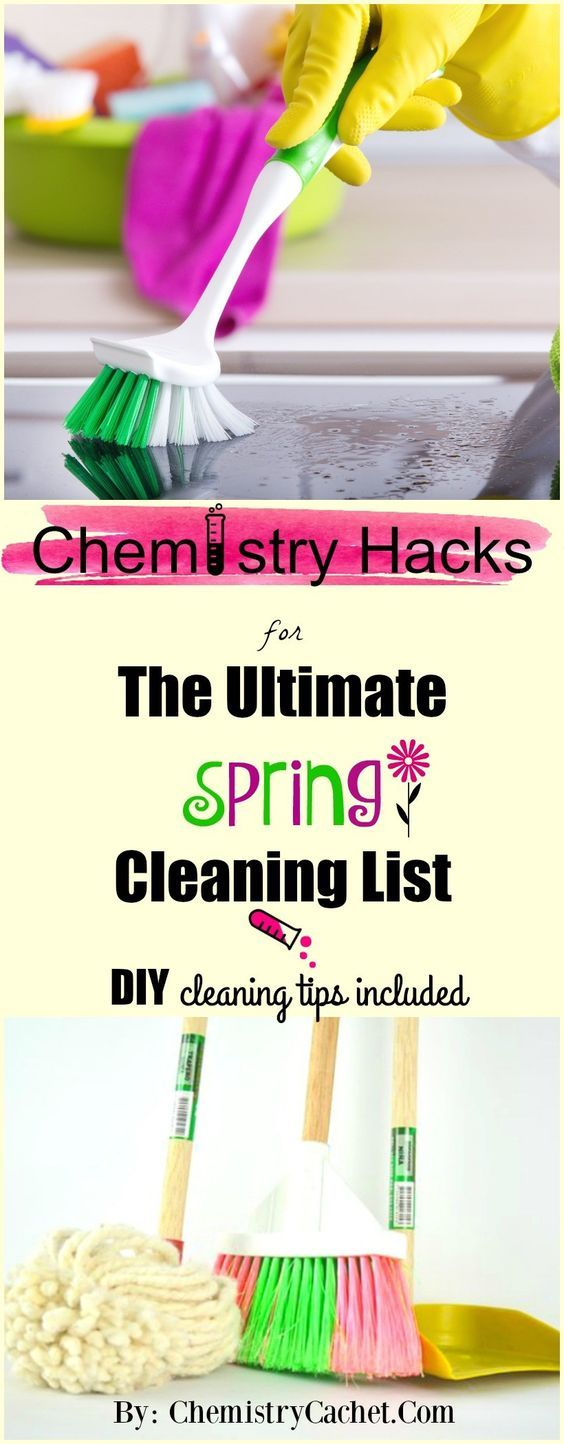 awesome Chemistry Hacks for the Ultimate Spring Cleaning List