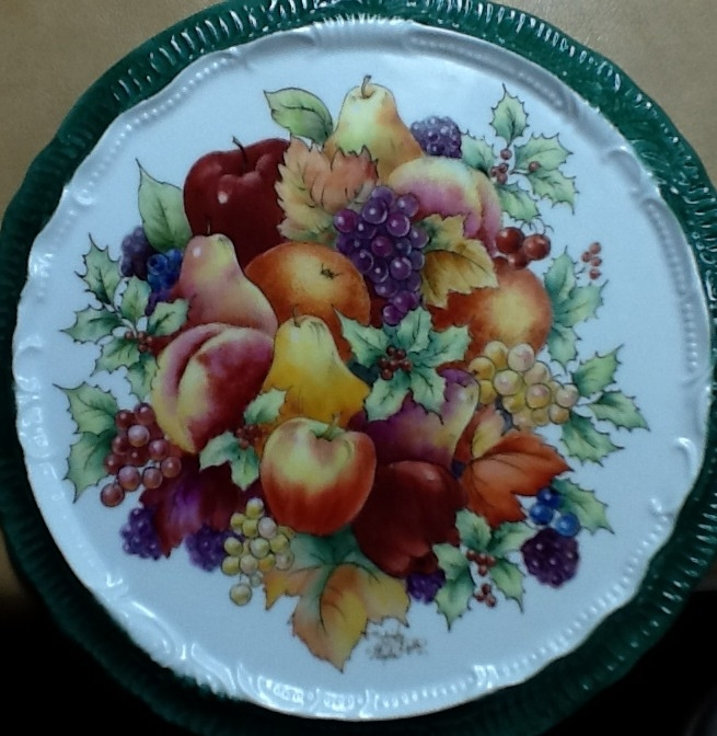 Fruit tile hand painted by Shirley Dyer Weston