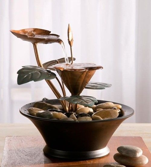 this fountain looks so nice i really love the idea of having a table top small water