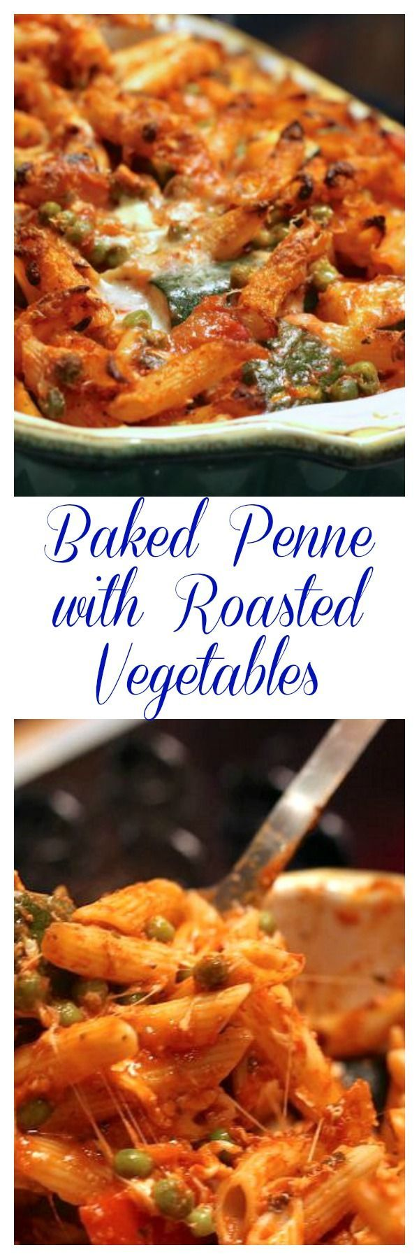 Baked Penne with Roasted Vegetables   Recipe   Penne, Baked penne and ...