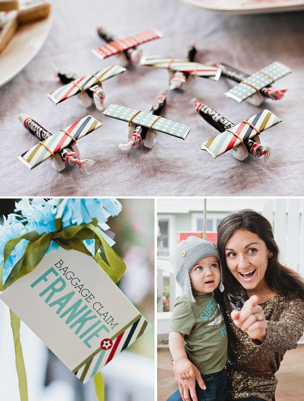 Vintage airplane party.Party Favors, Candies Airplanes, Airplanes Parties, Birthday Parties, Vintage Airplanes, Parties Ideas, Airplane Party, Planes Party, Party Ideas