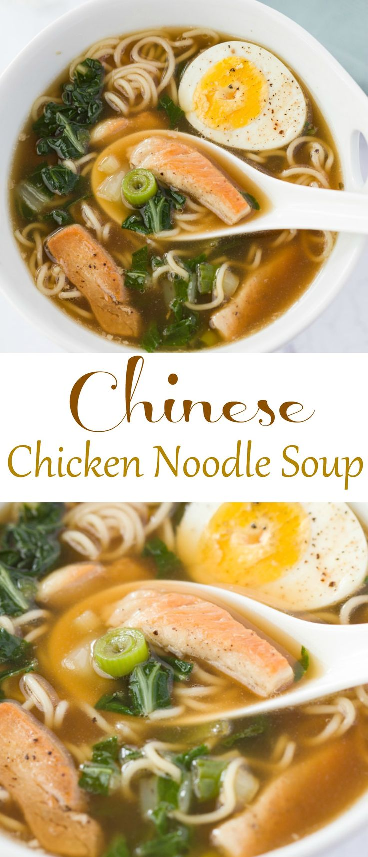 This healthy, protein-packed Chinese Chicken Noodle Soup that will leave you satisfied and energized.