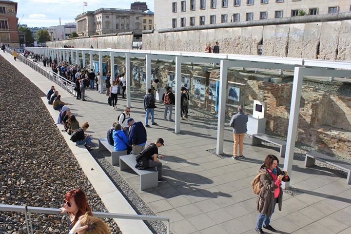 "Matthew Kelly of Extent was able to visit the exhibition ""Topography of Terror"" in Berlin recently.  This permanent exhibition on the site of the former Gestapo, SS and Reich Security Main Office at Wilhelm Strasse tells the story of those institutions and their decisions on this site.  Part of the remaining cellars of these buildings are used as exhibition space with the central building starkly exposed in the centre surrounded by a bleak landscape of basalt cobbles. A section of the Berlin…"