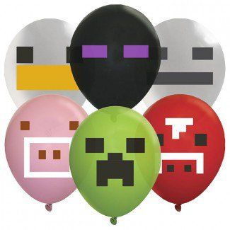 Minecraft Party Supplies, Mining Fun TNT Balloons, Decorations