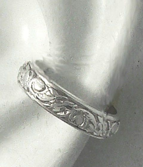 POST Conch Pierced Cartilage Earring 16G Post Sterling Silver ear cuff  Edged Floral EEFLSSP16g