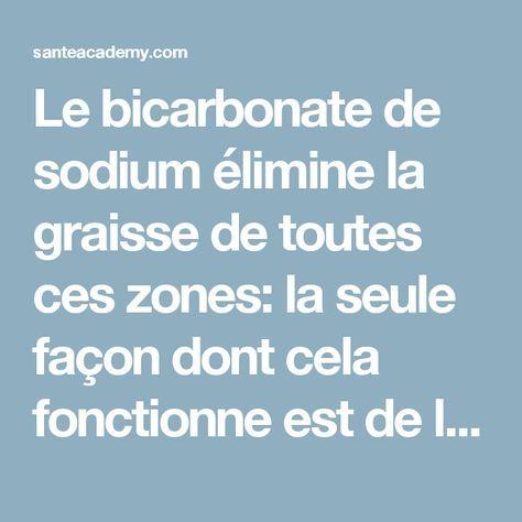 Le bicarbonate de sodium élimine la graisse de toutes ces zones: la seule façon dont cela fonctionne est de le préparer comme ça! | Sante academy